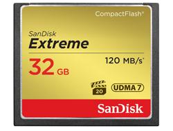 SanDisk Extreme - Flash-Speicherkarte - 32 GB - 567x - CompactFlash