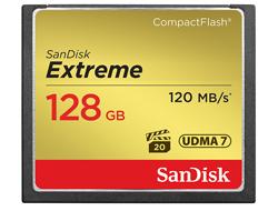 SanDisk Extreme - Flash-Speicherkarte - 128 GB - 567x - CompactFlash