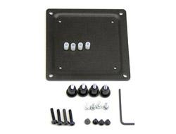 Ergotron - Montagekomponente (Adapterplatte) für Monitor - Stahl - Schwarz - Montageschnittstelle: 100 x 100 mm