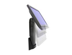 Ergotron Neo-Flex Wall Mount Lift NFW05L1B - Wandhalterung für Flat Panel - Schwarz - Bildschirmgröße: bis zu 50,8 cm (bis zu 20 Zoll)