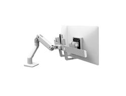 Ergotron HX Desk Dual Monitor Arm - Befestigungskit (Griff, Gelenkarm, Spannbefestigung für Tisch, Tischplattenbohrung, 2 Drehgelenke, Befestigungselemente, Scharnier, Verlängerungsteil) für 2