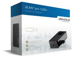 devolo dLAN pro 1200+ - Bridge - GigE, HomePlug AV (HPAV) - an Wandsteckdose anschließbar