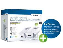devolo GIGABIT WLAN - Starter Kit - Bridge - GigE, HomePlug AV (HPAV) - 802.11a/b/g/n/ac - Dual-Band