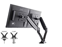Iiyama DS3002C-B1 - Verstellbarer Arm für 2 Monitore - Schwarz - Bildschirmgröße: 25.4-68.6 cm (10