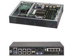 Supermicro SuperServer E300-8D - Server - Mini-1U - 1-Weg - 1 x Xeon D-1518 / 2.2 GHz - RAM 0 MB