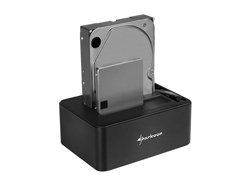 Sharkoon QuickPort Duo, Festplatte, SSD, SATA, 2.5,3.5 Zoll, USB 3.1 (3.1 Gen 2) Type-C, 151 mm, 108 mm