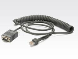 Motorola - Kabel seriell - DB-9 (W) - 2.7 m - gewickelt - für Symbol LS3478; Cyclone M2004; Digital Scanner DS 34XX, DS 66XX, DS3478, DS6707, DS6708