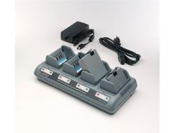Zebra Quad Charger UCLI72-4 - Netzteil + Batterieladegerät - Großbritannien und Nordirland - für Zebra RW 220, RW 420; QL 220, 220 Plus, 320, 320 Plus, 420, 420 Plus