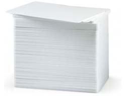 Zebra Premier - Polyvinylchlorid (PVC) - 40 mil - weiß - CR-80 Card (85.6 x 54 mm) 350 Karte(n) Karten