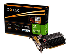 ZOTAC GeForce GT 730 - ZONE Edition - Grafikkarten - GF GT 730 - 2 GB DDR3 - PCIe 2.0 x16 Low Profile