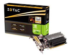 ZOTAC GeForce GT 730 - Grafikkarten - GF GT 730 - 4 GB DDR3 - PCIe 2.0 x16 Low Profile - DVI, D-Sub, HDMI