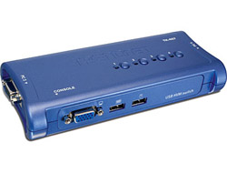 TRENDnet TK 407K - KVM-Switch - 4 x KVM port(s) - 1 lokaler Benutzer - Desktop