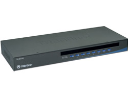 TRENDnet TK 803R - KVM-Switch - PS/2 - 8 x KVM port(s) - 1 lokaler Benutzer - an Rack montierbar