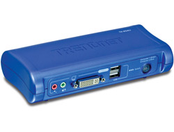 TRENDnet TK 204UK - KVM-/Audio-Switch - USB - 2 x KVM/Audio - 1 lokaler Benutzer - Desktop