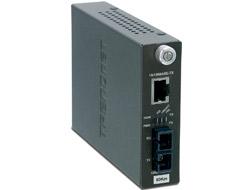 TRENDnet TFC-110S60i - Medienkonverter - Ethernet, Fast Ethernet - 10Base-T, 100Base-FX, 100Base-TX - SC Einzelmodus / RJ-45 - bis zu 60 km