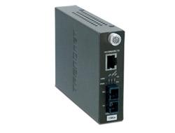 TRENDnet TFC-110S15I - Medienkonverter - Fast Ethernet - 10Base-T, 100Base-FX, 100Base-TX - SC Einzelmodus / RJ-45 - bis zu 15 km