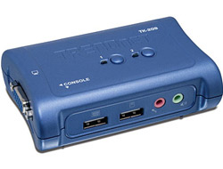 TRENDnet TK 209K - KVM-/Audio-Switch - USB - 2 x KVM/Audio - 1 lokaler Benutzer - Desktop