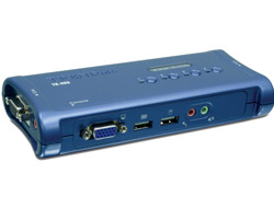 TRENDnet TK 409K - KVM-/Audio-/USB-Switch - 4 x KVM/Audio/USB - 1 lokaler Benutzer - Desktop