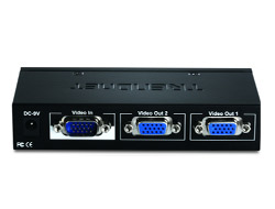 TRENDnet TK V201S - Video-Verteiler - 2 x VGA - Desktop
