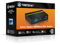 Switch 8-port GREENnet Gbit PoE 4* PoE 68W
