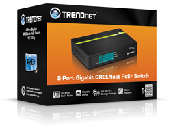 Switch 8-port GREENnet Gbit PoE 123W
